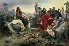 Large Framed Print - Vercingetorix Throws Down Arms at the Feet of Julius Caesar