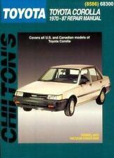 Toyota Corolla, 1970-87 by Chilton Automotive Editorial Staff (1998, Paperback)