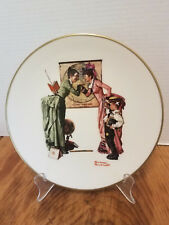 Norman Rockwell Plate Gorham Fine China Danbury Mint 1978 Back To School