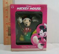 Disney Mickey Mouse Christmas Ornament  Mickey with Green Christmas ball