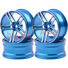 1054 BLUE 4xWheels Rim  Alumin On-Road Drift Sakura HSP Tamiya 5 Spoke AMG 1/10