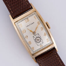 Vintage Waltham Art Deco Watch Long Curved Case 17 Jewel 870 Runs Great