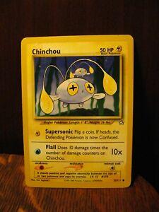 Pokemon Chinchou Game Playing Card - Vintage 1995-2000 Nintendo Creatures 55/11