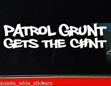 PATROL GRUNT Ute GU GQ 4x4 accessories Stickers 200mm