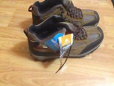 Ozark Trail Men's Mid Hiker Leather Hiking Boots-NEW