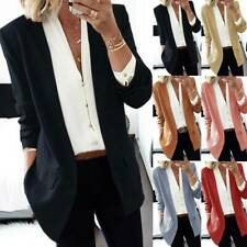 Womens Ladies Long Sleeve Slim Blazer Coat Business Work Formal Jacket Suit Tops