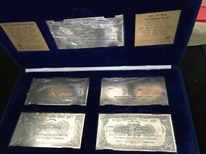 "1948 ""Anglo Palestine"" Banknote Series 5 Rectangle Silver Medals w/Original Box"