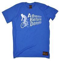 Adventure Before Dementia Cycling T-SHIRT tee cycle bike funny birthday gift