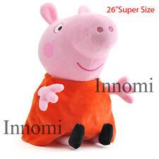"26"" Tall Super Size Giant Peppa Pig Plush Doll Soft Stuffed Animal Toy"