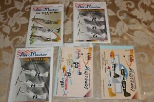 Lot of AeroMaster Cam decals 1/48 Mustangs new