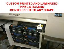 Laminated Custom printed stickers any shape contour cut