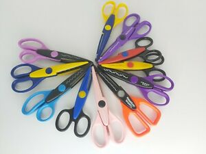 11 Pairs Decorative Edge Craft Scissors Pinking Shears ~ Papercraft, Card Making
