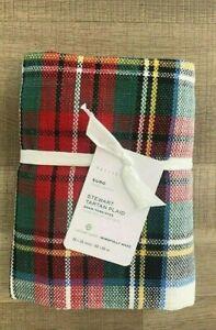Pottery Barn Stewart Plaid cotton EURO sham Christmas Tartan