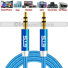 ®ets 3.5mm Jack Plug Male Audio AUX Stereo Headphone Speakers Mp3 Music Cable Blue 1.5m Meter