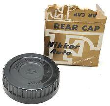 NIKON NIPPON KOGAKU REAR PLASTIC LENS CAP w/Box - JAPAN