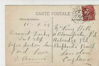 France Marseille 1908 Marseille Town Picture Stamps Post Card to London Rf 32135