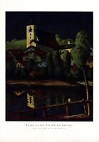 Abend an der Ilz Niederbayern Bayern XL Kunstdruck 1921 Fritz Scherer * Freiburg