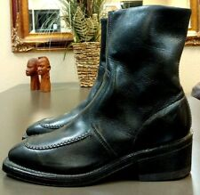 ~!Women's Vintage USA Genuine Leather Work Motorcycle Boots Vulcan Harley.Size 8