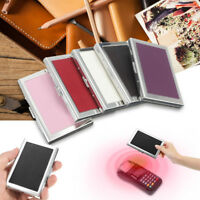 Waterproof PU &Stainless Steel Pocket Business ID Credit Card Wallet Holder Case