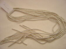 Authentic German Metal Bullion SM. Crinkle Wire Tinsel Silver Christmas Ornament