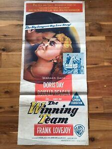 Original Daybill Poster 13x30: The Winning Team (1952) Doris Day, Ronald Reagan