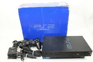 Sony PlayStation2 Black Console SCPH-50000 JP GAME PS2 Japan tested working Box