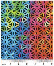 Blender Fabric - Sundrenched Blue Paradise Trellis - Benartex Kanvas YARD