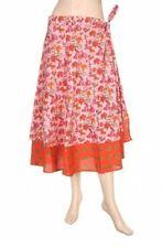 Rajrang Sarong floral Printed Casual Western Wear summer skirt, Light pink