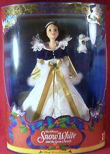 Mattel Barbie Walt Disney Snow White & Seven Drawfs Holiday Princess NRFB MIB