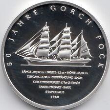 10 Euro Gedenkmünze 50 Jahre Gorch Fock 2008 Polierte Platte Silber 925/-