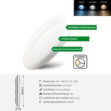 24W LED Deckenleuchte Slim Rund Ø33cm Deckenlampe 3 Farbtemperaturen Einstellbar