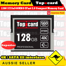 TopXCard 128G 3733x540MB/S CFast 2.0 Compact Memory Card 4K/SATA III interface