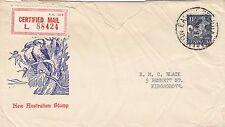 Stamp Australia 1963 Bandicoot 11d on Haslem Kookaburra fauna cachet certified