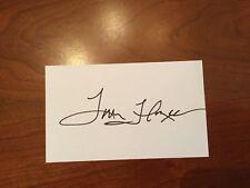 Coach Tom Flores signed Oakland Raiders Index Card IC COA