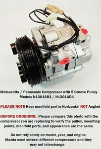 Mazda MX-3 1.8L  1992 - 1993  OEM MX3 AC Compressor with 5 Groove Pulley