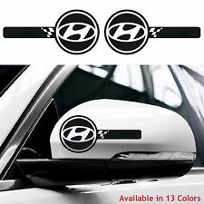 HYUNDAI Custom Wing Mirror Body Decals Stickers i10 i20 i30 Tucson Sonata Ix35