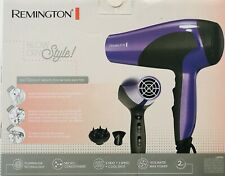 Remington Blow Dry Hair Dryer 1875 Watt Purple Ionic + Ceramic Tourmaline