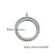 10pcs lot Copy Stainless Crystal Round 30mm Charms Glass Lockets Free Shipping