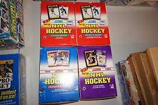 LOT OF 4 1990 1991 SCORE NHL HOCKEY SERIES 1 ENGLISH BILINGUAL PREMIER PLAYER