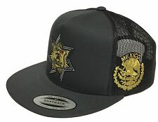 fe71868020e POLICIA FEDERAL MEXICO HAT 2 LOGOS DARK GREY TRUCKE SNAP BACK