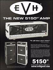 Eddie Van Halen 2007 Peavey EVH 5150 III amp ad 8 x 11 advertisement