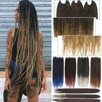Long Afro Crochet Small Kanekalon Braids Box Braiding Hair Extension Ombre mix