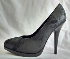 All Saints Womens Ladies Black Suede Leather High Heel Court Shoes Size 4/37 New