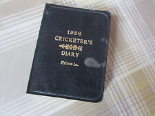 1928 BUSSEY Cricketers CRICKET Diary & Companian with Leather Bindings