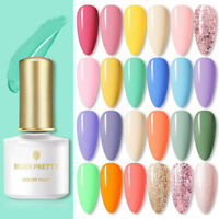 BORN PRETTY 6ml Soak Off UV Gel Polish Matte Top Base Coat Glitter Varnish Kit