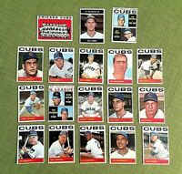 1964 TOPPS BASEBALL CHICAGO CUBS CARD TEAM SET LOT EX/EX-MT W/HIGH 4 #'s