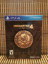 Uncharted 4: A Thief's End - Special Edition (PS4, 2016)+DLC/Steelbook/Art Book