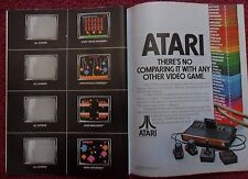 1982 Print Ad Atari Video Games Computer System ~ Space Invaders, Asteroids, ++