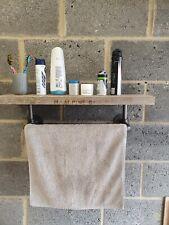 Industrial Retro Towel Rail with shelf,bathroom