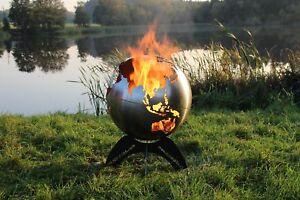 Feuerschale Feuerkugel Weltkugel Feuerkorb Brennstelle Blazeball mit Ständer